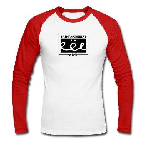 Basman Creëert eëe wear logo two-tone longsleeve - Mannen baseballshirt lange mouw