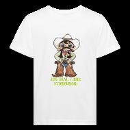 T-shirts ~ Organic børne shirt ~ Jeg skal være storebror! (cowboy)