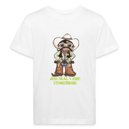 Jeg skal være storebror! (cowboy) - Organic børne shirt