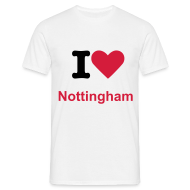 T-Shirts ~ Men's T-Shirt ~ I Love Nottingham