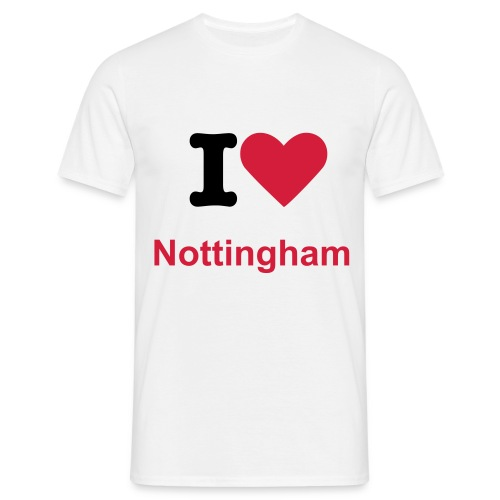 I Love Nottingham - Men's T-Shirt