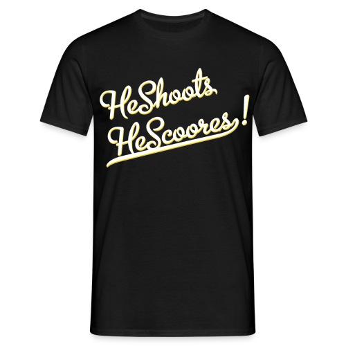 He Shoots He Scoores - Baseball Bianconero - Maglietta da uomo