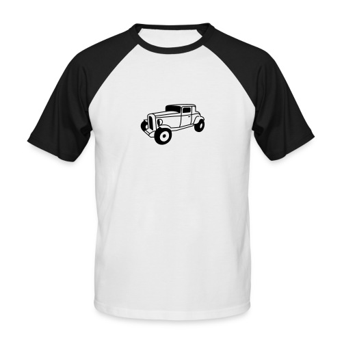 Hot Rod Oldtimer 1 - Flockdruck - Männer Baseball-T-Shirt