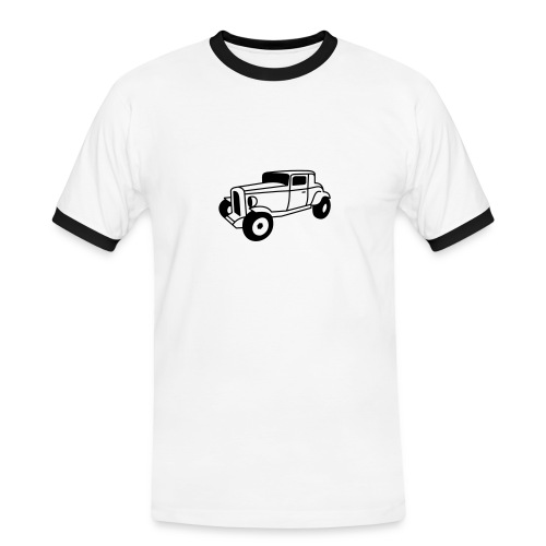 Hot Rod Oldtimer 1 - Flockdruck - Männer Kontrast-T-Shirt