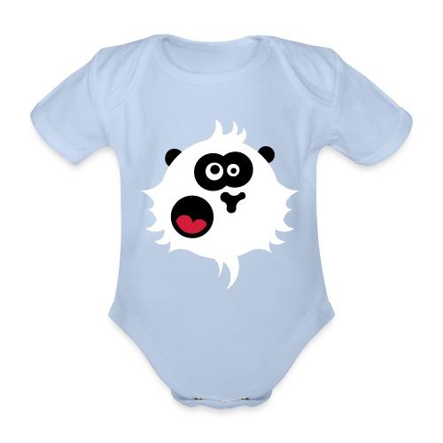 Panda power - Organic Short-sleeved Baby Bodysuit