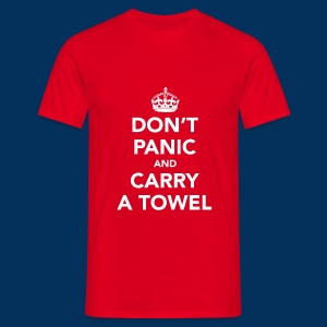 Hitchhikers - DON'T PANIC - Men's T-Shirt
