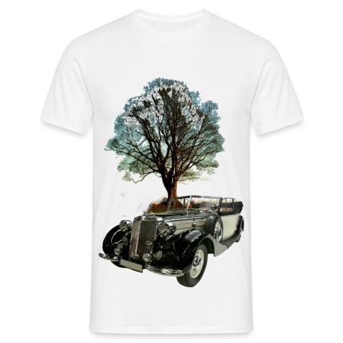 Oldtimer mit Baum - Männer T-Shirt