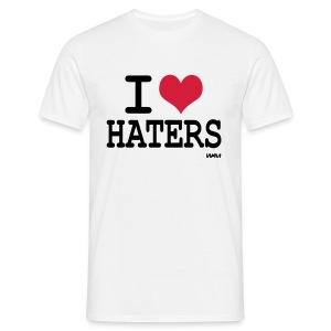 I love haters wit heren - Mannen T-shirt