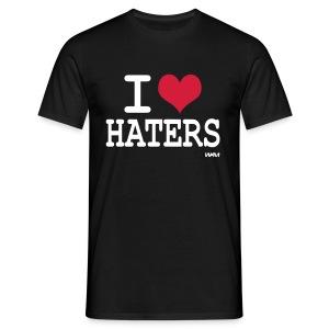 I love haters zwart heren - Mannen T-shirt