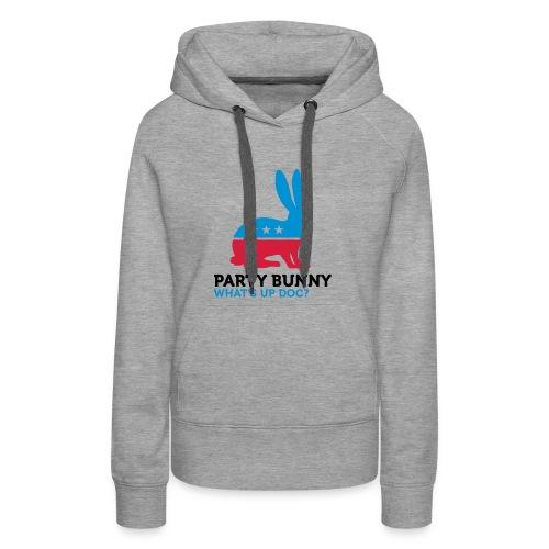 Party rabbit. - Sweat-shirt à capuche Premium pour femmes