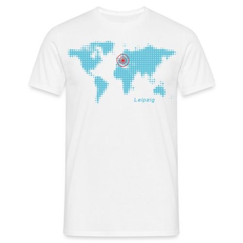 Leipzig Weltkarte T-Shirt - Männer T-Shirt