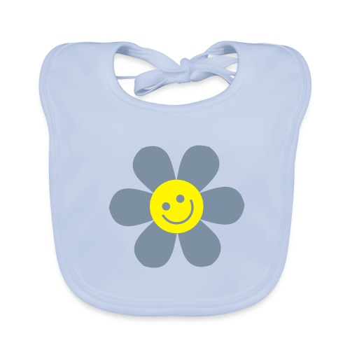 BAVOIR BIO HAPPY FLOWERS GARCON - Bavoir bio Bébé