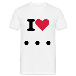 i'love ... - T-shirt Homme