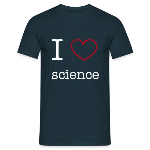 I heart science - Männer T-Shirt