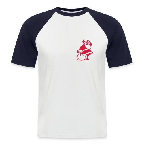 fuck santa - Koszulka bejsbolowa męska