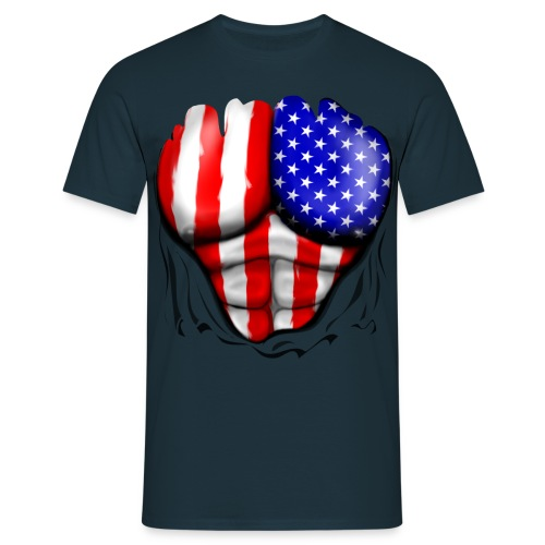PROMOTION T-SHIRT HOMME '' AMERICA '' - T-shirt Homme