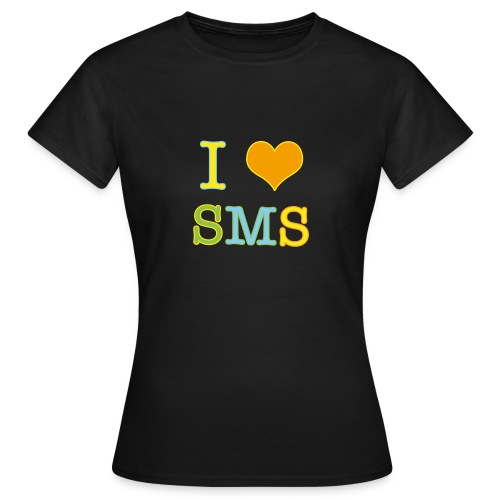 congstar frauen t-shirt i love sms - Frauen T-Shirt