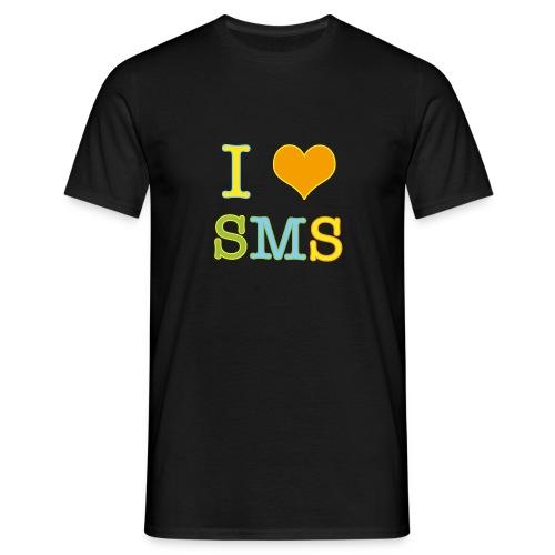 congstar männer t-shirt i love sms - Männer T-Shirt