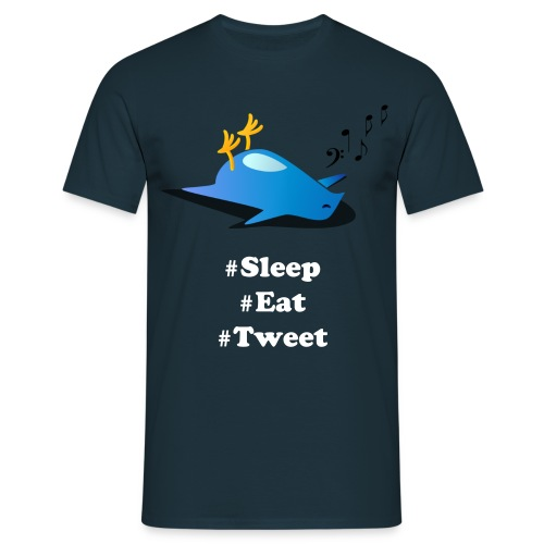 Sleep, Eat, Tweet. Men's Tee. - Men's T-Shirt