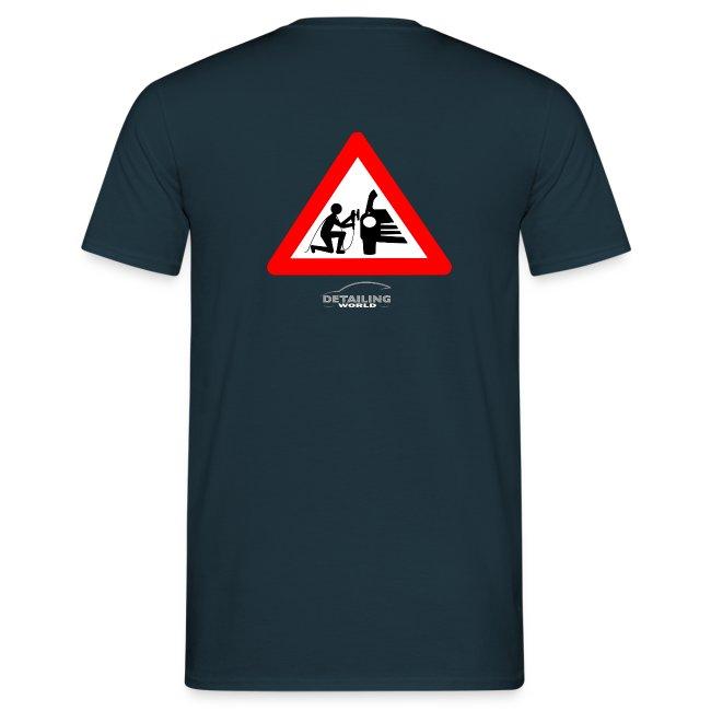 Detailing World 'Warning - Man Detailing' T-Shirt (BACK PRINT)