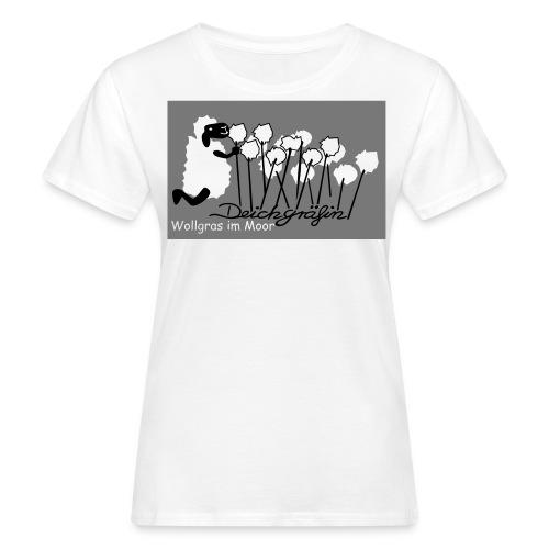 Wollgras im Moor - Frauen Bio-T-Shirt