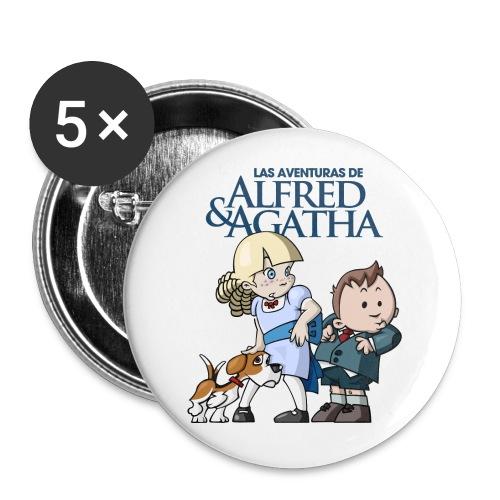 Alfred & Agatha 1 - Paquete de 5 chapas medianas (32 mm)
