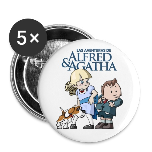 Alfred & Agatha 1 - Paquete de 5 chapas grandes (56 mm)