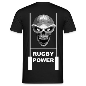 skull rugby t-shirt - T-shirt Homme