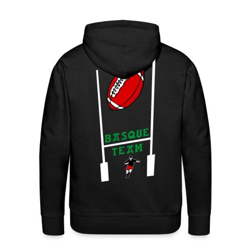 sweatshirt sport basque homme - Sweat-shirt à capuche Premium pour hommes