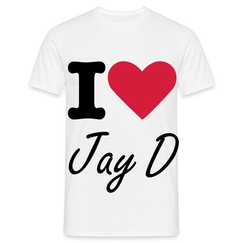 'I Love Jay D' T-shirt - Mannen T-shirt