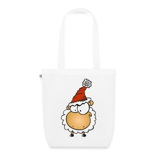 Weihnachts Schaf Tasche - Bio-Stoffbeutel