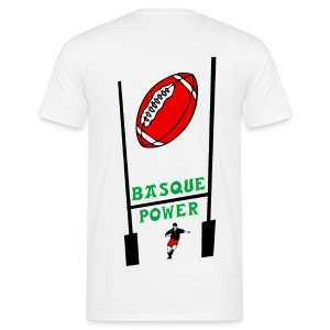 t-shirt basque rugby design - T-shirt Homme