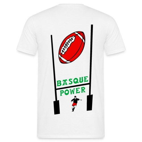 t-shirt basque rugby design - T-shirt Homme