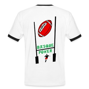 t-shirt basque rugby design - T-shirt contraste Homme