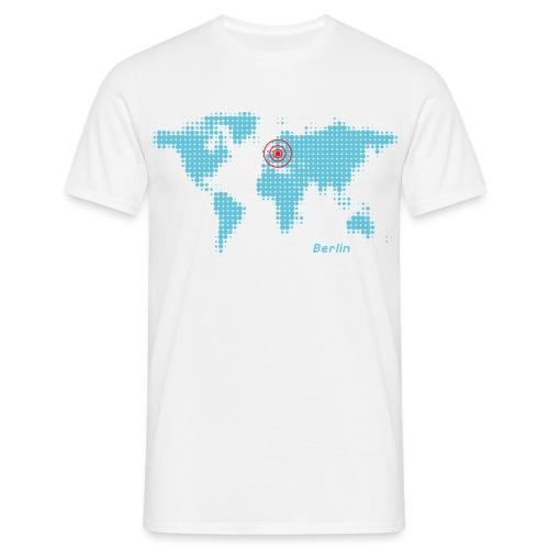 Berlin Weltkarte T-Shirt - Männer T-Shirt