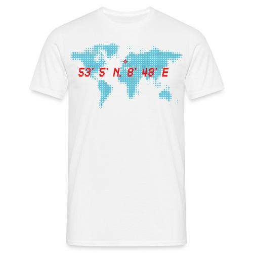 Bremen Weltkarte Koodinaten T-Shirt - Männer T-Shirt