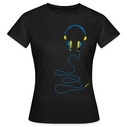 congstar frauen t-shirt kopfhörer - Frauen T-Shirt