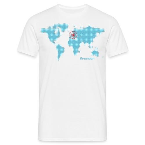 Dresden Weltkarte T-Shirt - Männer T-Shirt
