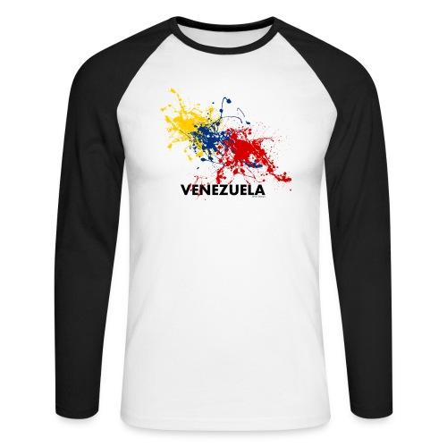 Flag Venezuela - Maglia da baseball a manica lunga da uomo