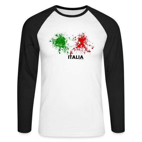 Flag Italy - Maglia da baseball a manica lunga da uomo