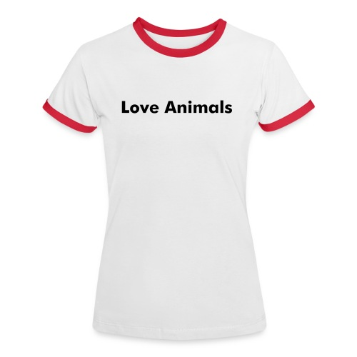 Love Animals - Frauen Kontrast-T-Shirt