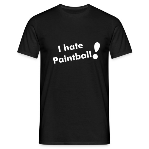 I hate Paintball (motifs dos) - T-shirt Homme