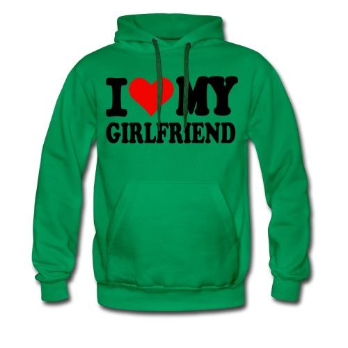 Männer Kapuzenpullover I love my girlfriend  - Männer Premium Hoodie