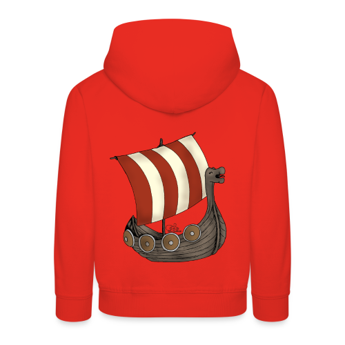 KinderShirt Schiff des lütten Wikingers Erik - Kinder Premium Hoodie
