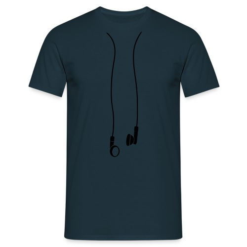 T-Shirt écouteurs marine  - T-shirt Homme