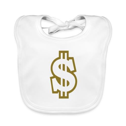 Baby slabbetje met dollarteken - Bio-slabbetje voor baby's