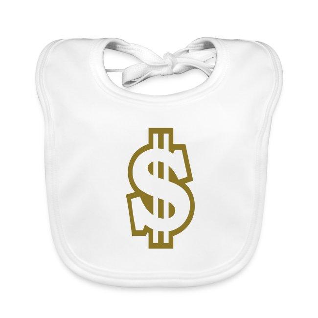 Baby slabbetje met dollarteken