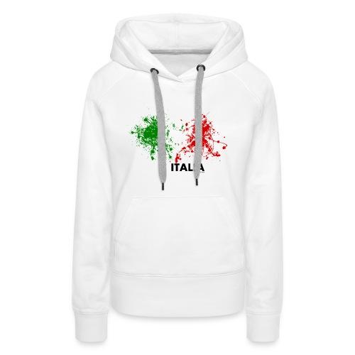 Flag Italy - Felpa con cappuccio premium da donna
