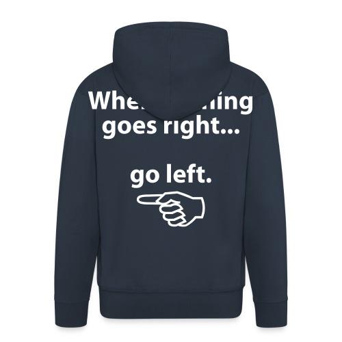 go left  - Premium Hettejakke for menn