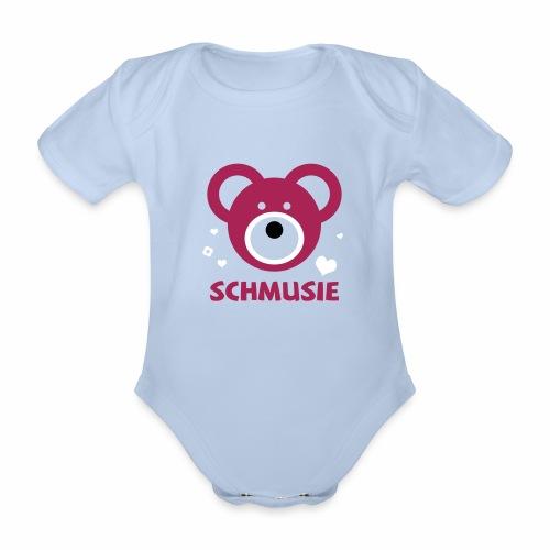 Schmusie Teddybär - Baby Bio-Kurzarm-Body